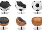 Įdomūs baldai - krėslai mylintiems sportą