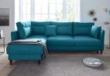 Minkštas kampas L formos Nr141 mėlynas su miego funkcija ir dėže patalynei