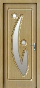 Durys su stiklu