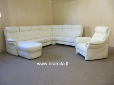 "Kampas U forma +fotelis ""Saranko"" vokiškas www.bramita.lt"