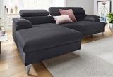 Minkštas kampas L formos Nr108(1) juodas su miego funkcija ir dėže patalynei