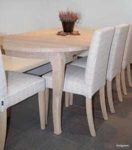 VICTORIA ovalus 110+50 pietų stalas