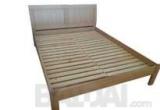 """Natūralaus ąžuolo faneruotės dvigulė lova """"Šauksmas"""""""