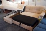 """Vokiškas minkštas kampas """"Noric"""" su miegama funkcija ir patalynės dėže."""