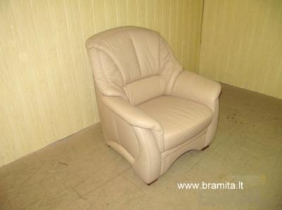 "Vokiškas Naturalios odos fotelis ""Verona""  www.bramita.lt"