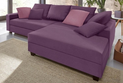 Minkštas kampas L formos Nr92 violetine struktura su miego