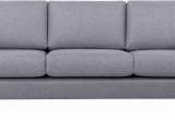 Minkšta sofa Nr167 pilka struktura + pufas