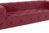 Minkšta sofa Nr168 raudonas veliūras