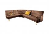 Minkštas kampas L formos Nr4 rudas be miego funkcijos+fotelis