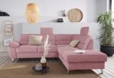 Minkštas kampas L formos Nr200 rožinis su miego funkcija ir dėže