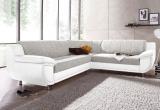 Minkštas kampas L formos Nr91 eko oda balta/struktura pilka be miego funkcijos+dviviete sofa