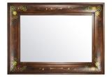Veidrodis su mediniu dekoruotu rėmu 60x90  (3004836)