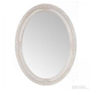 Veidrodis medienos plaušo rėme ovalus 50x70 (išorė 60x82) baltas (3004844)