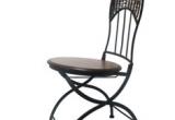 Kėdė 3016517 medinė/metalinė  su pintomis detalėmis