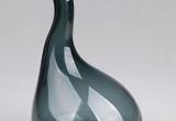 Stiklinė ilgu kaklu pilka vaza (3027163)