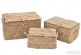Pinti krepšiai su dangčiu iš jūros žolės (3029304)
