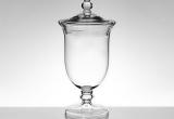Vaza stiklinė skaidri su dangteliu h 35 cm  (3029884)