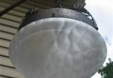 Lubų šviestuvas matiniu stiklu