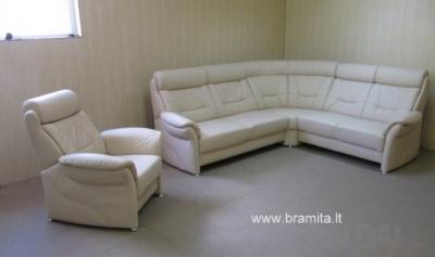 "Vokiškas kampas +fotelis ""Sardinien""  www.bramita.lt"