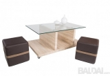 """Vokiškas staliukas+2 pufai """"ANDRIANO"""" www.bramita.lt"""