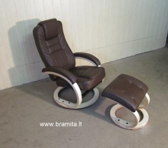 """Vokiškas poilsio fotelis su pufu """"Detroit"""" www.bramita.lt"""