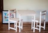 Vaikiškas staliukas su kėdutėmis