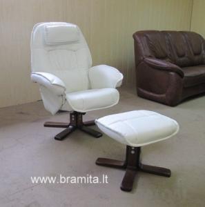 """Vokiškas Poilsio fotelis su pufu """"Rio"""" www.bramita.lt"""