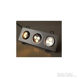 9W pailgas LED šviestuvas
