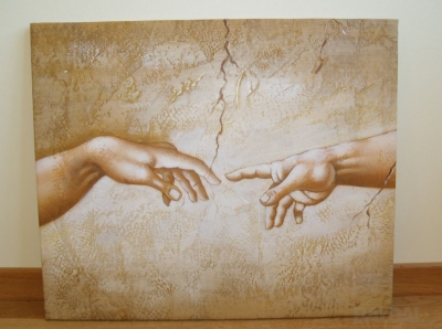 """Paveikslas """"Adomo sukūrimas"""" (freskos fragmentas)"""