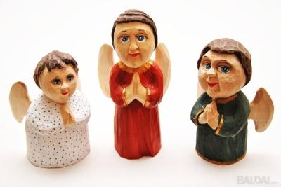 Angeliukas, vienetinė drožybos skulptūrėlė