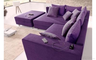 Minkštas kampas L formos Nr11 violetine primabele