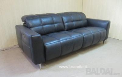 """Vokiška naturalios odos TV Sofa """"SWING"""" www.bramita.lt"""