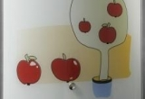 Šviestuvas obuoliukas MINI 200x180 max 100W
