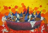"""""""Burbuliuojantis miestas"""", tapyba"""