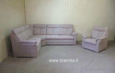 "Vokiškas kampas +fotelis ""Florida"" www.bramita.lt"