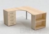 Darbo stalas su dokumentų spintele ir stalčių konteineriu