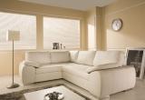Kampinė sofa su miegojimo mechanizmu ir dėže patalynei (Gobelenas)