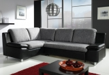 Kampinė sofa su miegojimo mechanizmu (Kombin. oda ir gobelenas)