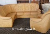 """Vokiškas natūralios odos svetainės kampas """"Home Plan"""" + fotelis www.dauglita.lt"""