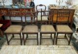 Henriko II stiliaus ąžuolinės kėdės