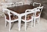 Seniena.lt atnaujintas stalas su 6 vnt kėdėmis