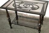 Kalviškas kavos staliukas stačiakampis
