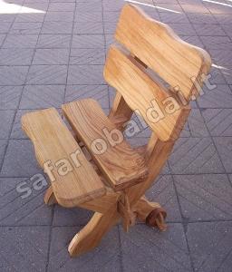 Klasikinė kėdė su ratukais