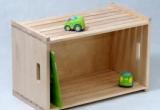 Medinė žaislų dėžė, natūralus beržas