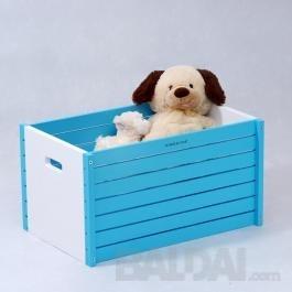 Medinė žaislų dėžė, žydra
