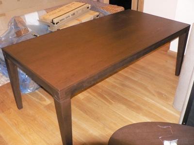 Azuolo masyvo stalas