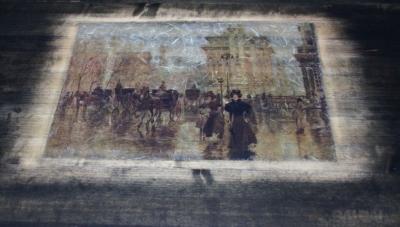 Sendintas staliukas svetainei, stačiakampis