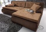 Minkštas kampas L formos Nr15 rudas su miego funkcija ir patalynės dėže