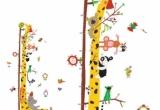 Sienų lipdukai-ūgio liniuotė  Žirafa