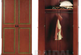 Ruda dviejų durų rūbų spinta